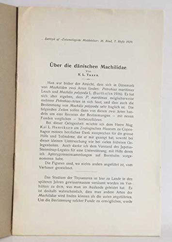 Über die dänischen Machilidae
