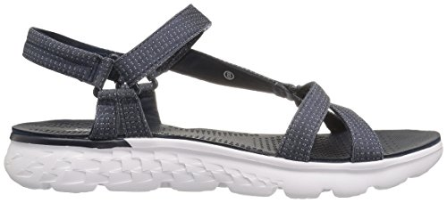 Skechers On the Go 400 Radiance, Sandales Bout Ouvert Femme Bleu (Nvw)