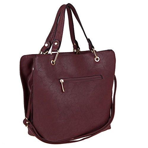 Damen Tasche, SCHULTERTASCHE, Handtasche, TA-18211 Rot