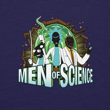 Planet Nerd - Men of Science - Herren T-Shirt Dunkelblau