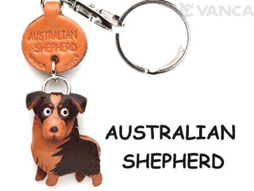 Leder-schlüsselanhänger-befestigung (Australian Shepherd Dog Schlüsselanhänger Aus Leder, Klein, VANCA Craft-Sammelfigur Schlüsselanhänger, Made in Japan)
