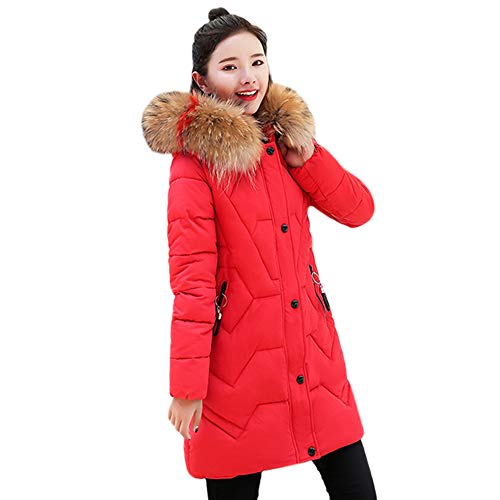 TWBB Damen Winterjacke Hoodie Lose Wintermantel Lange Daunenjacke Jacke Outwear Frauen Winter Warm Daunenmantel Solide Lässig Dicker Winter Slim Down Jacke Mantel