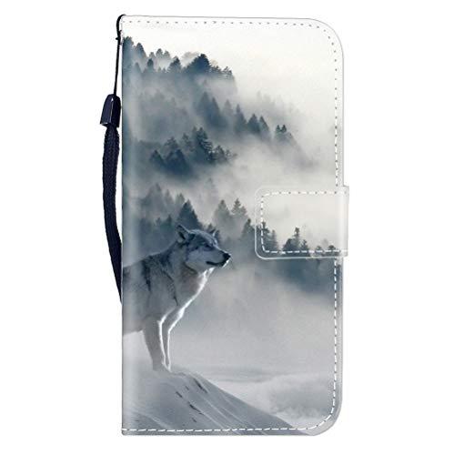 Sunrive Hülle Für Vodafone Smart N8, Magnetisch Schaltfläche Ledertasche Schutzhülle Etui Leder Case Cover Handyhülle Tasche Schalen Lederhülle MEHRWEG(W8 Wolf)