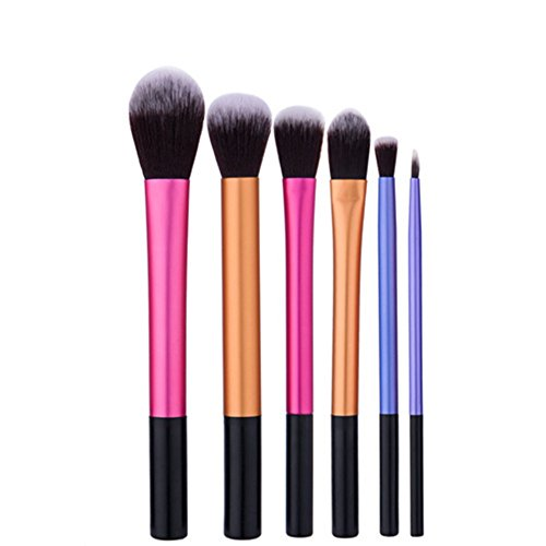 Make-up Pinsel Set inkl. 6 x Kosmetik Schmink Bürsten 6 tlg. Makeup Bürsten Pinsel Schminkpinsel...