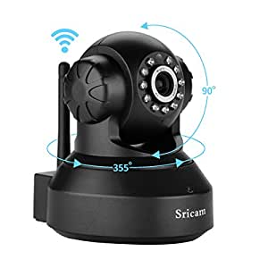 Sricam SP Series SP005 Wireless HD IP Wi-Fi CCTV Indoor Security Camera (Black)