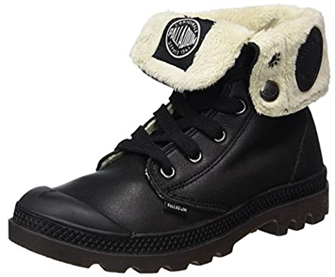 Botte Palladium Cuir Noir - Palladium Baggy Leather Fs, Bottes Combat de