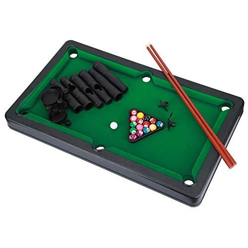 ard Pool Set Tragbare Mini Tabletop Miniatur Billardtisch Snooker Spiel Spielzeug für Indoor Outdoor-Spiel Kinder Erwachsene ()