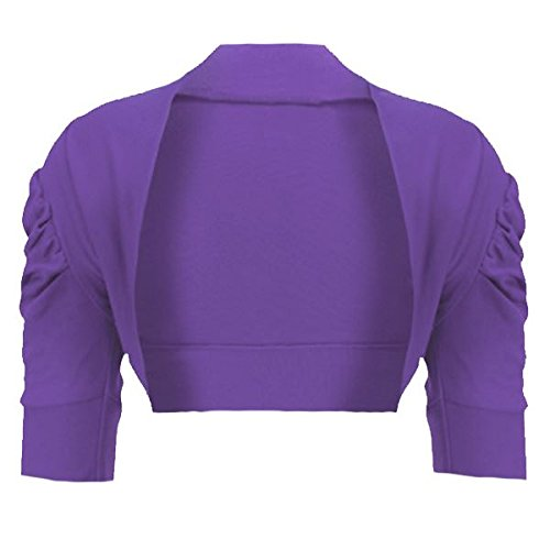 Girls Ruched Sleeve Cropped Bolero Cardigan Shrug