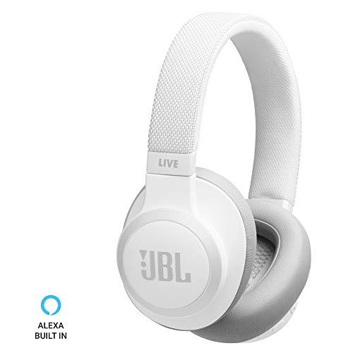 JBL Live 650BTNC Wireless Over-Ear Noise-Cancelling Headphones (White)