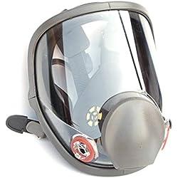 WEISHAZI kit de respirador facial de cara completa, máscara de gas de silicona para pintar polvo