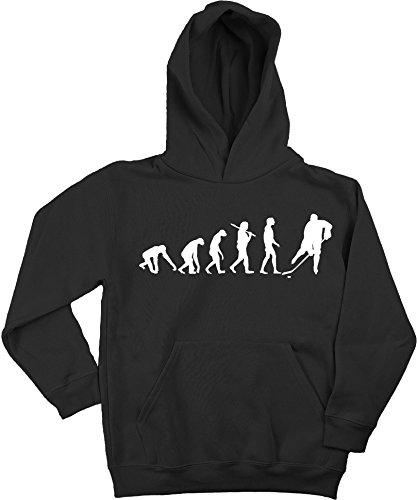 Ma2ca - Evolution Hockey Icehockey Kinder Kapuzensweatshirt Premium Kids Hoodie-Black-l