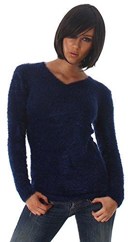 luxestar-pull-doux-moelleux-col-v-femme-taille-unique-36-38-40-42-bleu-marine