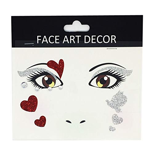 FEIDAjdzf Gesicht Decor Glitter Temporäre Tattoo Aufkleber Halloween Party Bühne Make-up Prop FS10