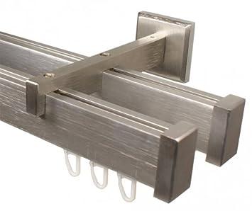 Gardinenstangenhalter Edelstahl amazon de eckige design innenlauf gardinenstange 2 läufig aus