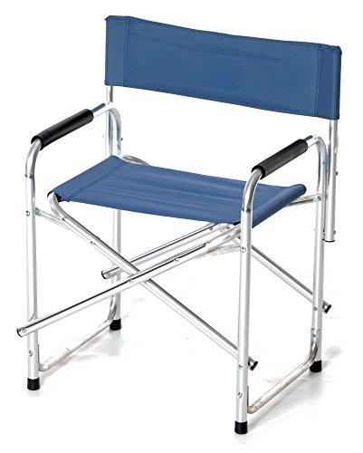 Verdelook sedia regista in tessuto poliestere, dimensioni 47x57x h78 cm, blu, esterni giardino terrazza