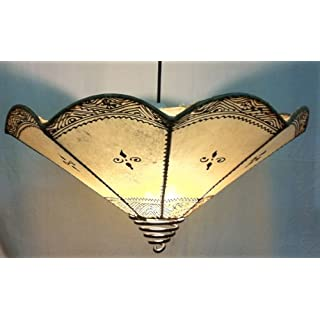 Ceiling Moroccan Henna Lamp shade only - wave - Cream Di 40CM