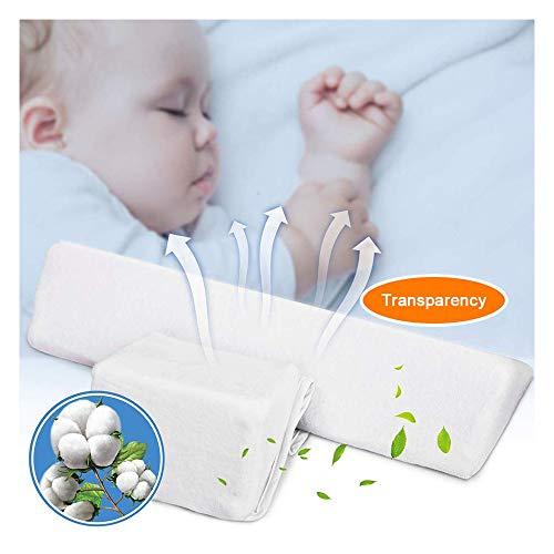 Almohada para bebés del lado de los bebés recién nacidos - Cabeza antipolar, leche lavable y anti...