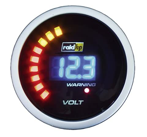 Raid HP 660504 Zusatzinstrument Voltmeter Serie Night Flight Digital Blue