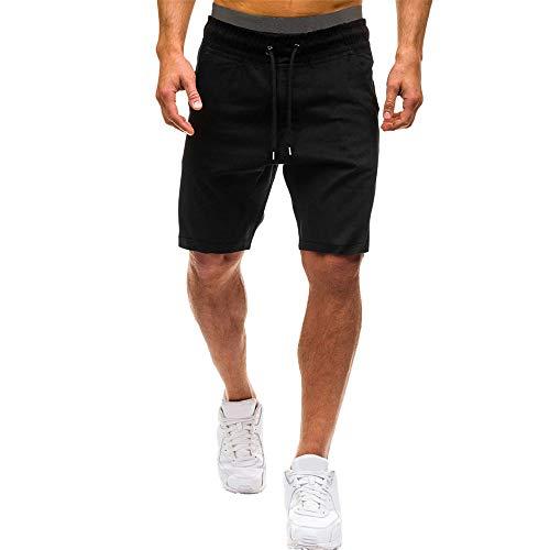 Aiserkly Herren Sommer Elastic Jogging Hosen Solide Baggy Pockets Kurze Arbeitshose Cargo Shorts Hose