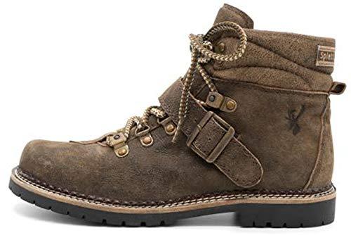Spieth & Wensky Damen Trachten Boots Stiefel Erna Nappa Crash braun Gr.37