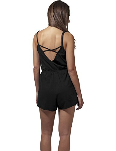 Urban Classics Damen Jumpsuit Ladies Short Spaghetti, Schwarz (Black 7), Medium - 5