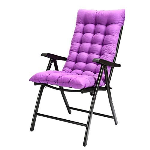 lqgpsx Gartenstühle mit dickem Polster, hohe Rückenlehne, 7-Fach verstellbar, klappbare Liege für Bequeme Sitzgelegenheiten im Innenhof, Stütze 200 kg (Farbe: Lila)