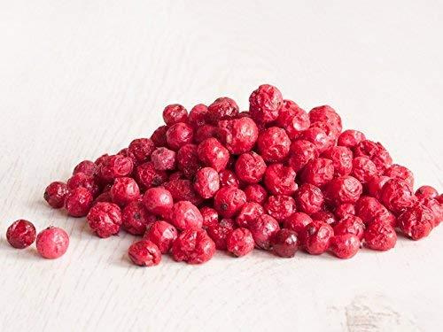 Johannisbeere gefriergetrocknet 100g I Ganze getrocknete rote Johannisbeeren ungezuckert I 100% Frucht, voller Geschmack