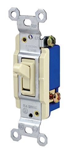 Jasco 1166015A 120VAC 3Wege Erdung Kippschalter (15-teiliges Regal Pack), Licht Mandel (Ge-licht-schalter)