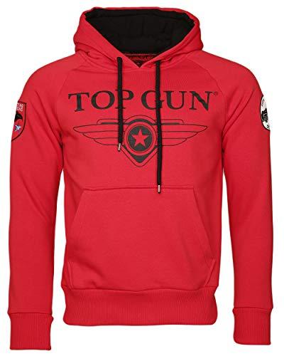 Top Gun Herren Sweatshirt Kapuzenpullover TG2019-1012 (XXL, Red)