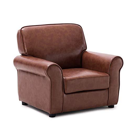 Kinderstuhl Sessel Sofa Sitzhocker Kinder Kleinkinder Childs Sofa Sitz (Farbe : Coffee PU) -