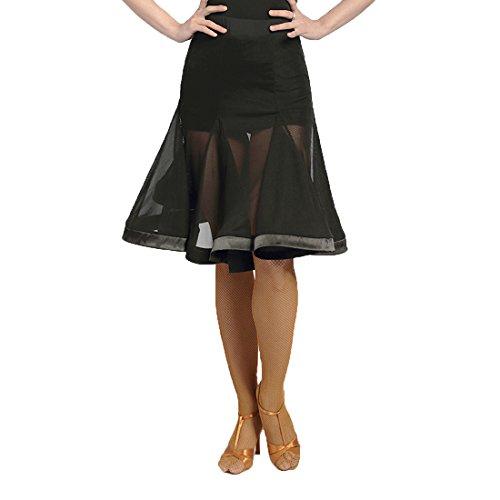 SCGGINTTANZ G2041 Latin Latein Der Ball Tanz Gesellschaftstanz Professionell Fischknochen-Design Große Swing Röcke (XL, (FBA) Black)