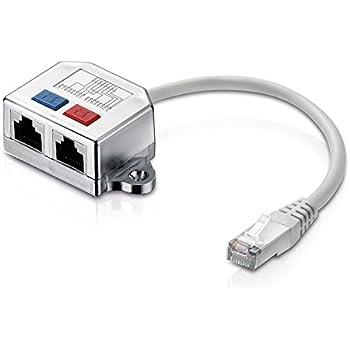 adaptare 70101 Ethernet-T-Verteiler Port-Doppler 2-mal