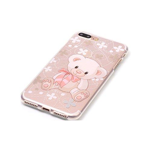iPhone 7 Plus Custodia,iPhone 7 Plus Case,Patate piuma Custodia in TPU Gel Ultra sottile [Trasparente] Custodia protettiva in gomma flessibile case cover para for iPhone 7 Plus 5.5inch colour & 6