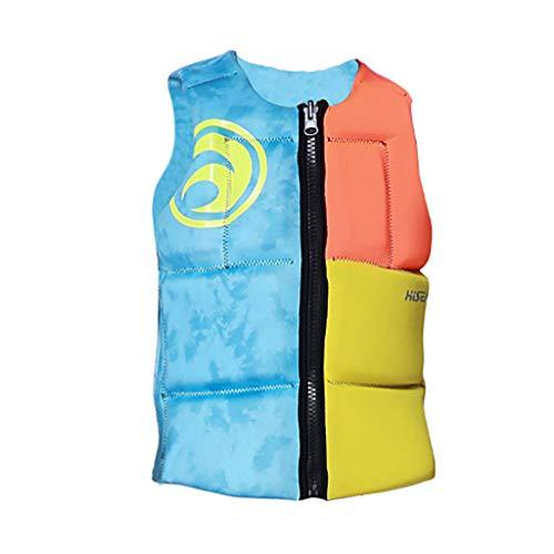 Eliasan Professionelle Schwimmweste Schwimmjacke Neoprenschaum Bootfahren Schwimmhilfe Jacke Länge verstellbar zum Bootfahren Surfen Angeln Rafting Multi Size Blau M