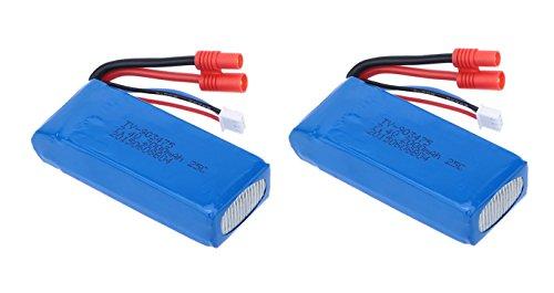 Pack 2 Baterias Lipo 7,4V. 2000Mah. para Drone Syma X8 X8C X8W...