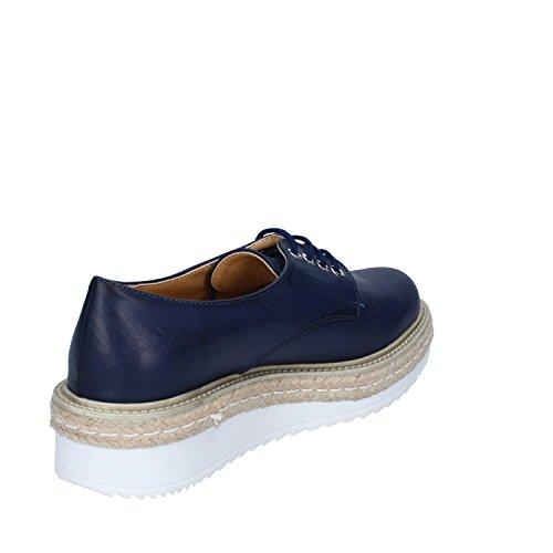 OLGA RUBINI Chaussures de Ville à Lacets Pour Femme Bleu