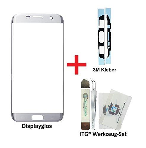 Galleria fotografica iTG® PREMIUM Vetro display kit di sostituzione per Samsung Galaxy S7 EDGE in Argento (Silver Titanium) - Vetro di schermo oleorepellente per SM-G935F + 3M adesivo pretagliato e iTG® set di strumenti