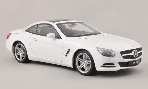 Preisvergleich Produktbild Mercedes SL 500 (R231), met.-weiss, Verdeck geschlossen , 2012, Modellauto, Fertigmodell, Welly 1:18