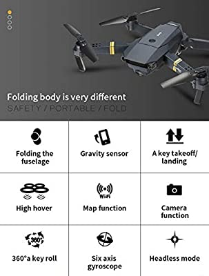 Transer E58 720P WiFi FPV with Wide Angle HD Camera High Hold Mode Foldable Arm Selfie Pocket RC Quadcopter Drone