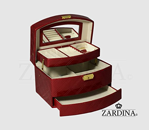 victoria-premium-faux-pu-leather-jewellery-make-up-storage-organizer-red