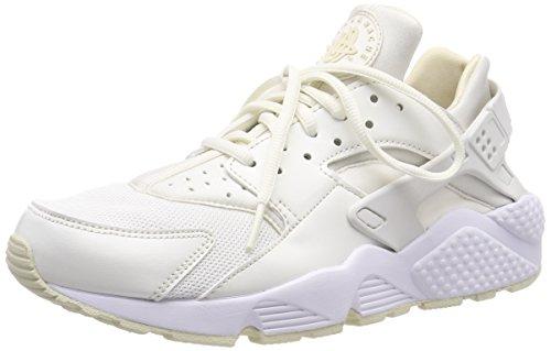 Nike Wmns Air Huarache Run, Scarpe da Ginnastica Basse Donna, Bianco (Sail/Fossil/Bianco 115), 41 EU