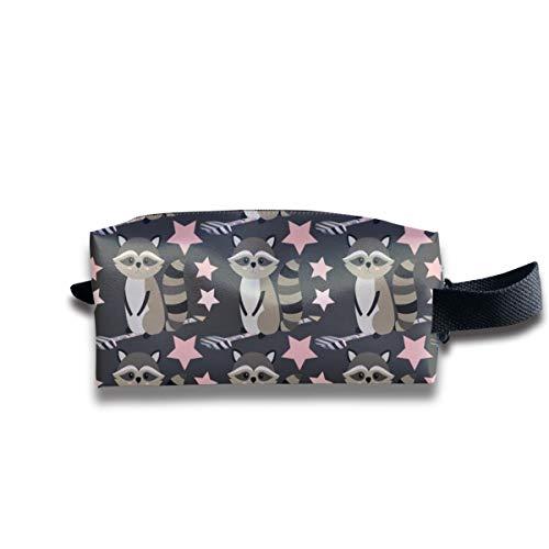 Star Racoon On Dark Grey_2904 Tragbare Reise Make-up Kosmetiktaschen Organizer Multifunktions Fall Taschen für Unisex