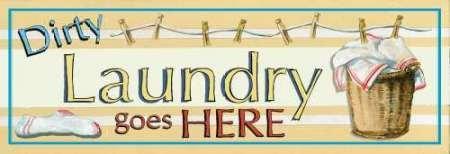 Dirty Laundry by Gorham disponibile, Gregory-Stampa artistica su tela e carta, Tela, SMALL (18.5 x 6.5 Inches