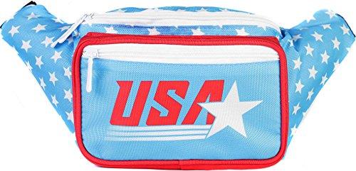 SoJourner Bags Gürteltasche Einheitsgröße Retro- USA-amerikanische Flagge