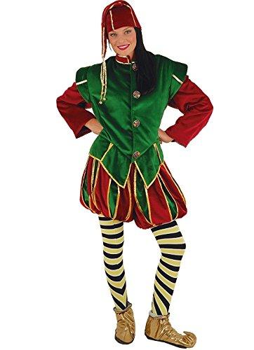 Kostüm Elfe Vater Noel, Wichtel, DE LUXE (Lutin Du Pere Noel Kostüm)