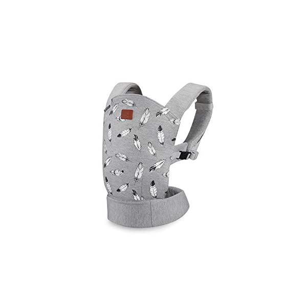 kk Kinderkraft Milo Ergonomic Baby Carrier Front Gray kk KinderKraft Ergonomic baby carrier for children aged from 3 months up to 20 kg Two baby carrying positions: on the stomach and on the back Rubber bands so that the belt ends do not hang 2