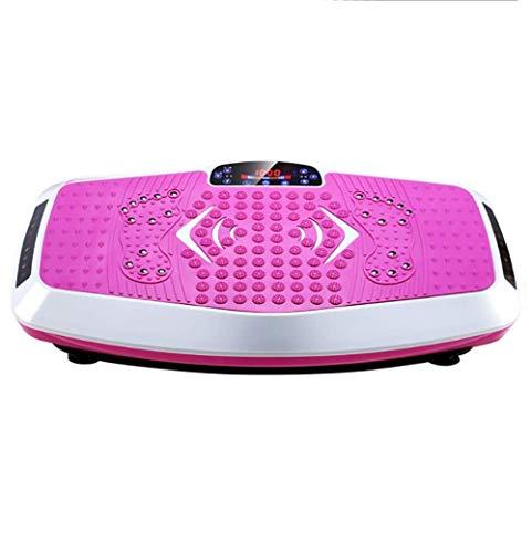 ZAIHW Vibrationsplattform Fitness Vibrationsplatten, Ganzkörpervibrationstrainingsmaschine w/Fernbedienung, Anti-Rutsch-Fit Massage Workout Vibrationstrainer (Color : Pink)