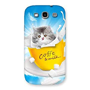 Impressive Coffee Kitty Back Case Cover for Galaxy S3 Neo