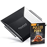 Rawford Grillkorb - Edelstahl Grillschale für Fisch, Fleisch & Gemüse - Gemüsekorb geeignet für alle Arten von Grills - inklusive Rezept, Anleitung & Pflegeanleitung - Grillkörbe | Grillzubehör