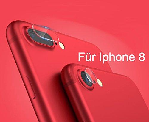 KRS - LP8 - iPhone 8 Kamera Linsenschutz Echtglas/Tempered Glass / Display Kratz Schutz Folie (LP8) (Iphone-kamera-objektiv-protector)